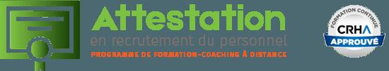 Atestation en recrutement du personnel - CRHA Approuvé